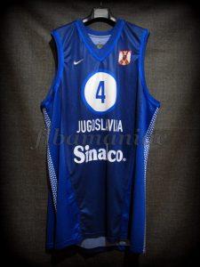 2001 Eurobasket Champions Yugoslavia Dejan Bodiroga Jersey Front - Issued