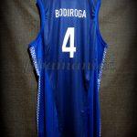 2001 Eurobasket Champions Dejan Bodiroga Jersey Back - Issued