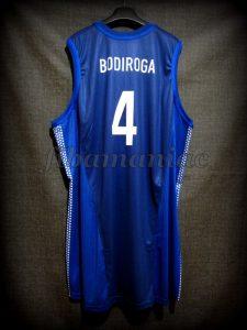 2001 Eurobasket Champions Yugoslavia Dejan Bodiroga Jersey Back - Issued