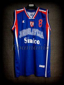 "2002 World Cup Champions Yugoslavia Predrag ""Peja"" Stojakovic Jersey - Front"