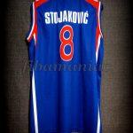 "2002 World Cup Champions Yugoslavia Predrag ""Peja"" Stojakovic Jersey - Back"