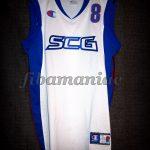 """2005 Pre-Eurobasket Yugoslavia Predrag """"Peja"""" Stojakovic Jersey - Front"""