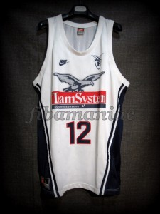 1997/1998 Preseason (First game with team) Fortitudo Bologna Dominique Wilkins Jersey - Front
