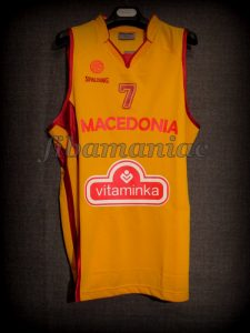 2011 Eurobasket All-Tournament Team Macedonia Bo McCalebb Jersey - Front