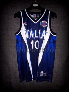 1999 Eurobasket Champions Special Edition Italy Carlton Myers Jersey – Front