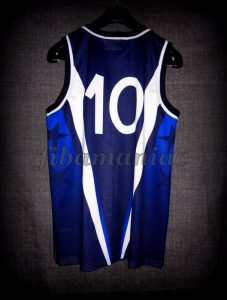 1999 Eurobasket Champions Special Edition Italy Carlton Myers Jersey – Back