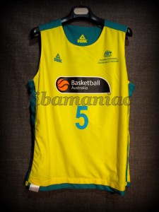 2012 Pre-Olympic Training Camp Australia Patrick Mills Jersey - Reverse Front