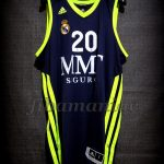 2013 ACB Champions Real Madrid Jaycee Carroll Jersey Front - Signed
