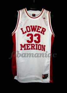 1996 Naismith Prep Player of the Year Lower Merion Aces HS Kobe Bryant Jersey - Front