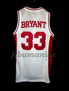 1996 Naismith Prep Player of the Year Lower Merion Aces HS Kobe Bryant Jersey - Back