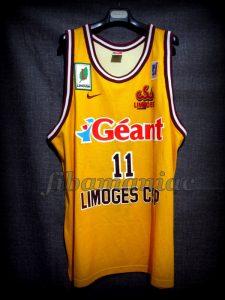 2000 LNB & Korac Cup Champions Limoges CSP Jean-Philippe Méthélie Jersey Front – MW