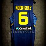 "2014 ""Ruta Ñ"" Spain Sergio Rodríguez Jersey Back - Issued"