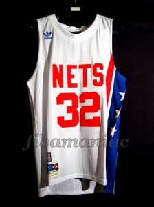 "1974 & 1976 ABA Finals MVP New Jersey Nets Julius ""Doctor J"" Erving Jersey - Front"