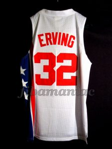 "1974 & 1976 ABA Finals MVP New Jersey Nets Julius ""Doctor J"" Erving Jersey - Back"