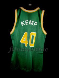 1989/1990 Rookie Season Seattle SuperSonics Shawn Kemp Jersey - Back