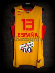 2013 Eurobasket All-Tournament Team Spain Marc Gasol Jersey - Front