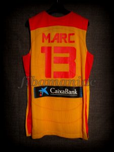 2013 Eurobasket All-Tournament Team Spain Marc Gasol Jersey - Back