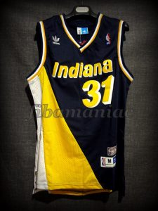1995 NBA Eastern Conference Semifinals Indiana Pacers Reggie Miller Jersey - Front