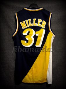1995 NBA Eastern Conference Semifinals Indiana Pacers Reggie Miller Jersey - Back