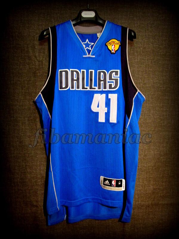 quality design 7b370 684dd 2011 NBA Finals MVP Dallas Mavericks Dirk Nowitzki Jersey ...