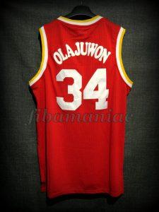 1994 & 1995 NBA Finals MVP Houston Rockets Hakeem Olajuwon Jersey - Back