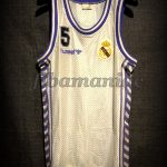 1989 European Cup Winner's Cup Champions Real Madrid Drazen Petrovic Jersey - Front
