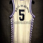 1989 European Cup Winner's Cup Champions Real Madrid Drazen Petrovic Jersey - Back
