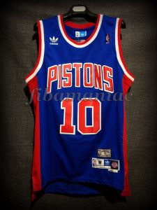1990 NBA Defensive Player of the Year Detroit Pistons Dennis Rodman Jersey - Front