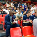 Watching the game in the row over Arturas Karnisovas and the USA scouting team
