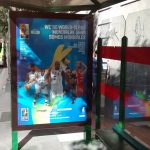 Event advertising in the bus stops