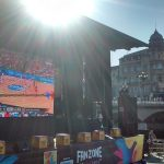 Equiped with a giant screen. BBVA in the distance ... coincidence? maybe, or maybe not