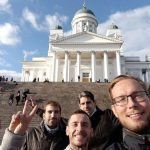 At the Helsinki cathedral. Some stairs to get fit xD