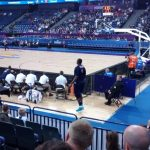 Another day in the office. Behind the France bench in his game VS Greece
