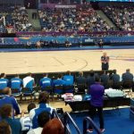 And behind the Greece bench in the second half xD