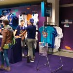 The fan shop inside the arena