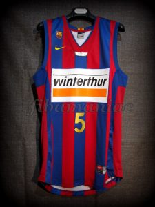 2007 Spanish King's Cup Champions FCBarcelona Gianluca Basile Jersey - Front
