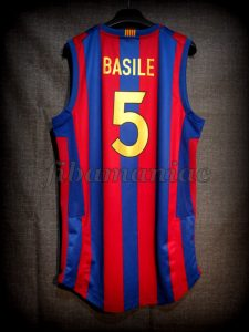 2007 Spanish King's Cup Champions FCBarcelona Gianluca Basile Jersey - Back