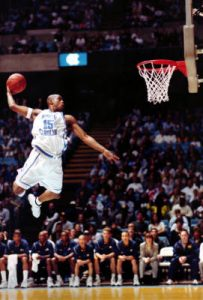 Vince Carter in action with the jersey