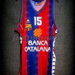 "1994 Spanish King's Cup Champions FCBarcelona Juan Antonio San Epifanio ""Epi"" 10th Title Jersey – Front"