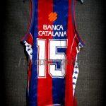 "1994 Spanish King's Cup Champions FCBarcelona Juan Antonio San Epifanio ""Epi"" 10th Title Jersey – Back"