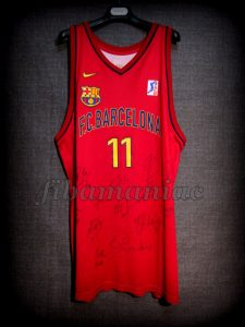 2000 Euroleague Final Four FCBarcelona Milan Gurovic Jersey Front - MW & Signed
