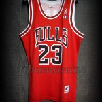 1991 NBA Finals Champions & Slam Dunk Championships Chicago Bulls Michael Jordan Jersey - Front