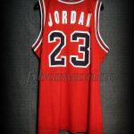 1991 NBA Finals Champions & Slam Dunk Championships Chicago Bulls Michael Jordan Jersey - Back