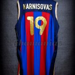 2002 Spanish King's Cup FCBarcelona Arturas Karnisovas Jersey - Back