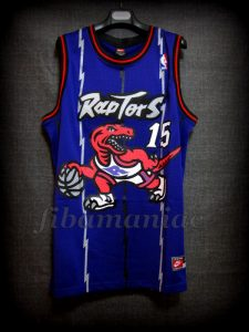 1999 NBA Rookie Of the Year Toronto Raptors Vince Carter Jersey - Front