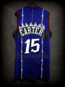 1999 NBA Rookie Of the Year Toronto Raptors Vince Carter Jersey - Back