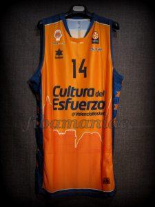 2014/2015 Euroleague Valencia Basket Bojan Dubljevic Jersey – Front