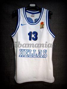 1998 World Cup Semifinals Greece Panagiotis Fasoulas Jersey - Front