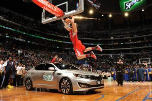 One of his most iconic images. Griffin jumping a car in the 2011 NBA Slam Dunk Contest