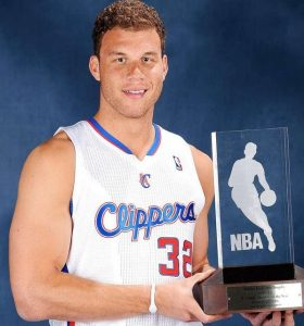 Blake with the Rookie Of the Year award